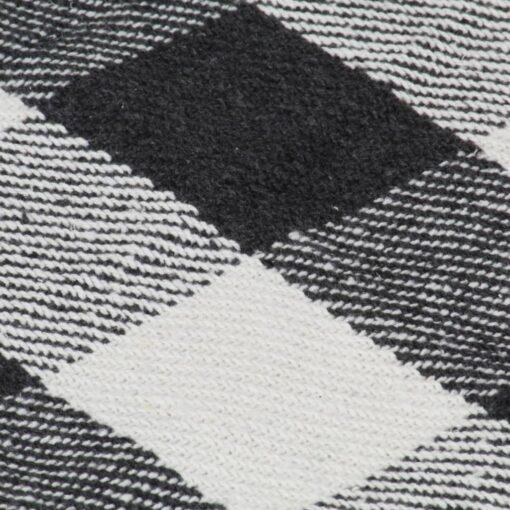 vidaXL plaid 160 x 210 cm ternet bomuld antracitgrå