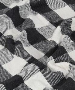 vidaXL plaid 220 x 250 cm ternet bomuld antracitgrå