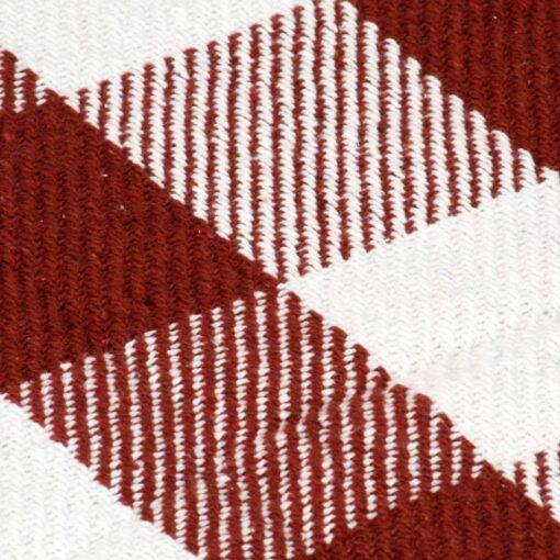 vidaXL plaid 125 x 150 cm ternet bomuld stenrød