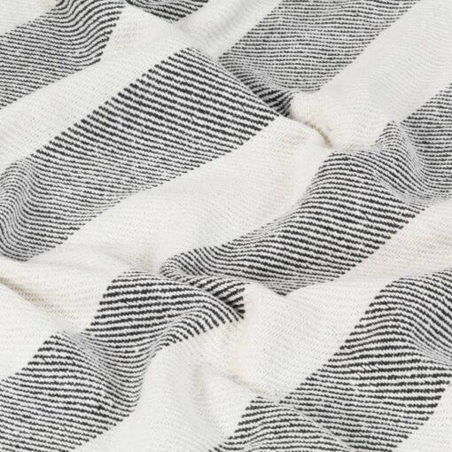 vidaXL plaid 220 x 250 cm stribet bomuld antracitgrå