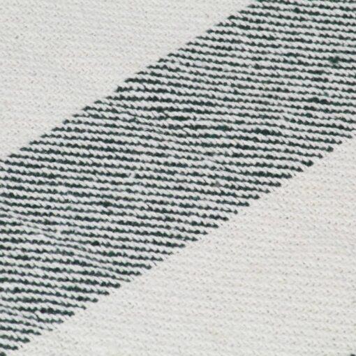 vidaXL plaid 160 x 210 cm stribet bomuld mørkegrøn