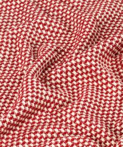 vidaXL plaid 160 x 210 cm bomuld rød