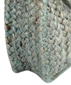 vidaXL skuldertaske håndlavet jute grøn