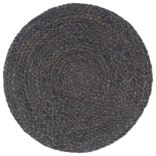 vidaXL dækkeservietter 6 stk. rund 38 cm jute mørkegrå