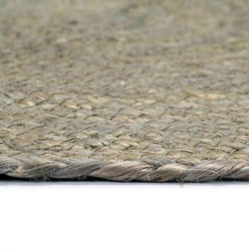 vidaXL dækkeservietter 4 stk. rund 38 cm jute grå