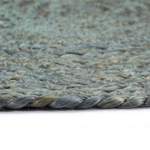 vidaXL dækkeservietter 4 stk. rund 38 cm jute olivengrøn