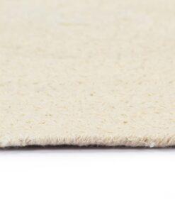 vidaXL dækkeservietter 6 stk. runde 38 cm bomuld naturfarvet