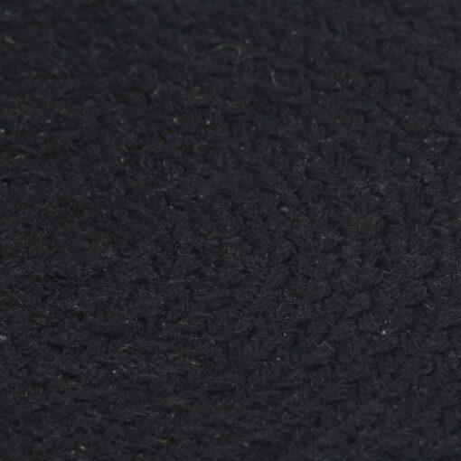 vidaXL dækkeservietter 4 stk. runde 38 cm bomuld sort