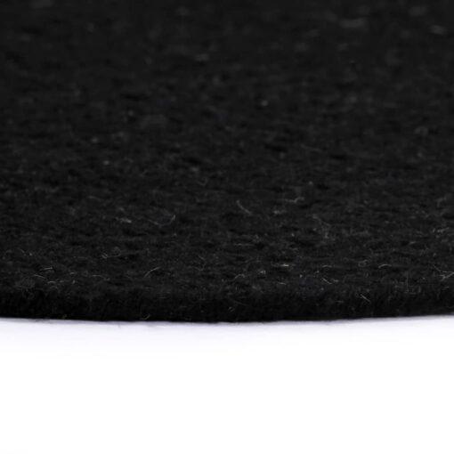 vidaXL dækkeservietter 6 stk. rund 38 cm bomuld sort