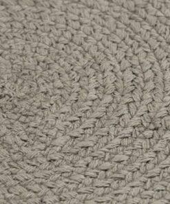 vidaXL dækkeservietter 6 stk. rund 38 cm bomuld grå
