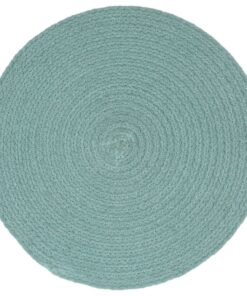 vidaXL dækkeservietter 4 stk. rund 38 cm bomuld grøn