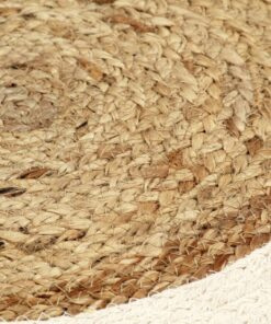 vidaXL dækkeservietter 6 stk. rund 38 cm jute og bomuld naturfarvet