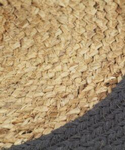 vidaXL dækkeservietter 6 stk. 38 cm jute og bomuld natur og antracit