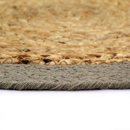 vidaXL dækkeservietter 4 stk. 38 cm jute og bomuld natur og grå