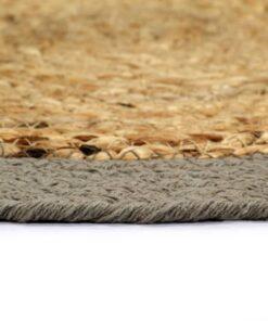 vidaXL dækkeservietter 6 stk. 38 cm jute og bomuld natur og grå