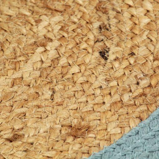 vidaXL dækkeservietter 6 stk. 38 cm jute og bomuld natur og grøn