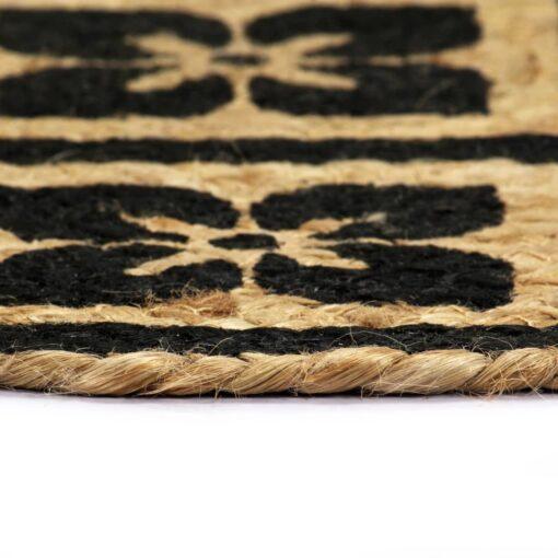 vidaXL dækkeservietter 6 stk. rund 38 cm jute sort