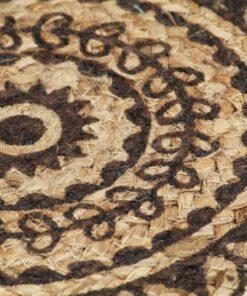 vidaXL dækkeservietter 6 stk. rund 38 cm jute mørkebrun