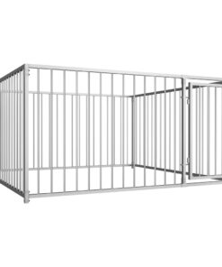 vidaXL udendørs hundebur 200x200x100 cm
