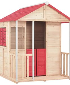 vidaXL legehus til børn grantræ rød