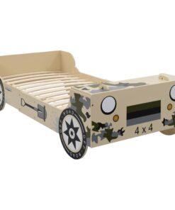 vidaXL barneseng terrængående bil 90 x 200 camouflage