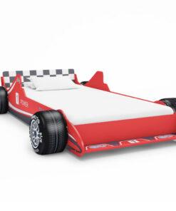 vidaXL racerbilseng til børn 90 x 200 cm rød