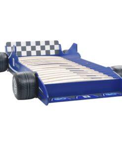 vidaXL racerbilseng til børn 90 x 200 cm blå