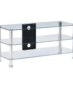 vidaXL tv-bord 90 x 40 x 40 cm hærdet glas transparent
