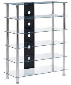 vidaXL tv-bord 90 x 40 x 113 cm hærdet glas transparent