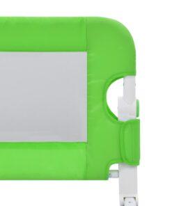 vidaXL sengegelænder til barneseng 120 x 42 cm polyester grøn