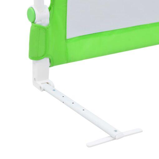 vidaXL sengegelænder til barneseng 180 x 42 cm polyester grøn