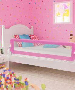 vidaXL sengegelænder til barneseng 180 x 42 cm polyester pink