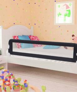 vidaXL sengegelænder til barneseng 180 x 42 cm polyester grå
