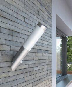 RVS havelampe væglampe vandtæt med bevægelsessensor