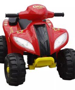 Børn quad cykel elektrisk rød og sort