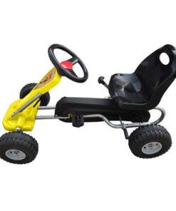 vidaXL pedal-gokart gul