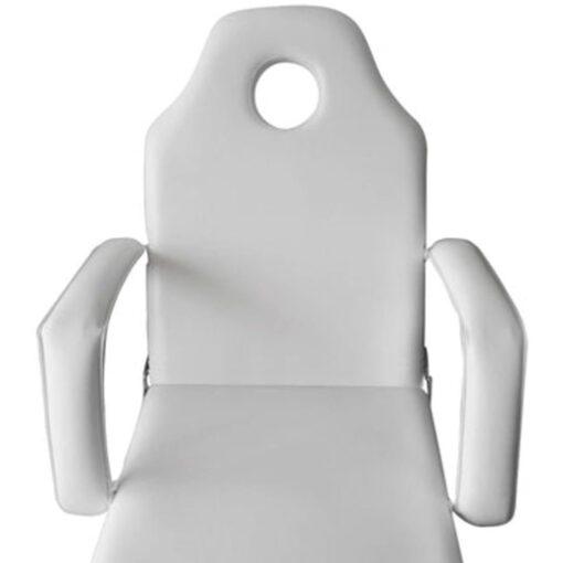 vidaXL mobil ansigtsbehandlingsstol 185 x 78 x 76 cm kunstlæder hvid