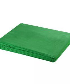 vidaXL fotobaggrund i bomuld grøn 600 x 300 cm chroma key