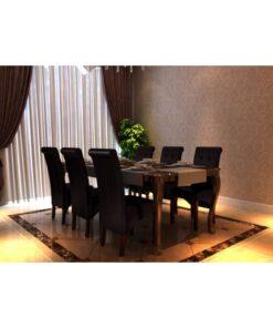 vidaXL spisebordsstole 6 stk. kunstlæder brun