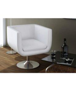 vidaXL barstole 2 stk. kunstlæder hvid