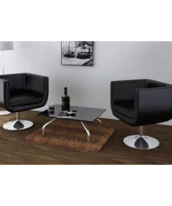 vidaXL barstole 2 stk. kunstlæder sort