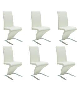 vidaXL spisebordsstole 6 stk. kunstlæder hvid
