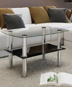 vidaXL sofabord 2 niveauer glas