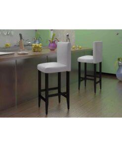 vidaXL barstole 4 stk. kunstlæder hvid