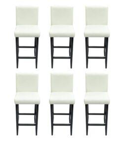 vidaXL barstole 6 stk. kunstlæder hvid