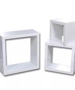Hylde 3-pak hvide kube