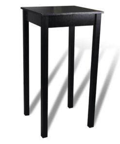 vidaXL barbord med 2 barstole sort