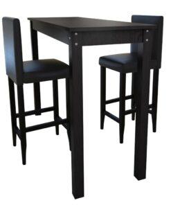 160727 Barstol 2-pak London, herunder stort bord sort