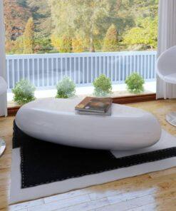 vidaXL sofabord glasfiber højglans hvid