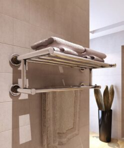 vidaXL håndklædeholder 6 rør rustfrit stål